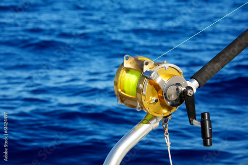 Staande foto Vissen Deep sea fishing reel