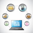 online banking concept illustration design