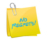 no regrets post message illustration design