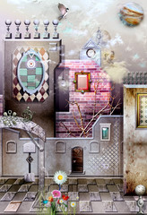 Old fashioned village