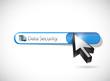 data security search bar illustration design