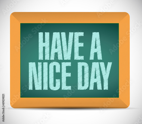 have a nice day message illustration