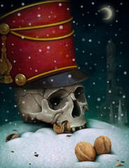 Poster or illustration for the fairy tale The Nutcracker