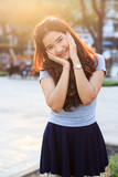 Young and beautiful asian woman with smiling