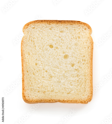 sliced bread on white