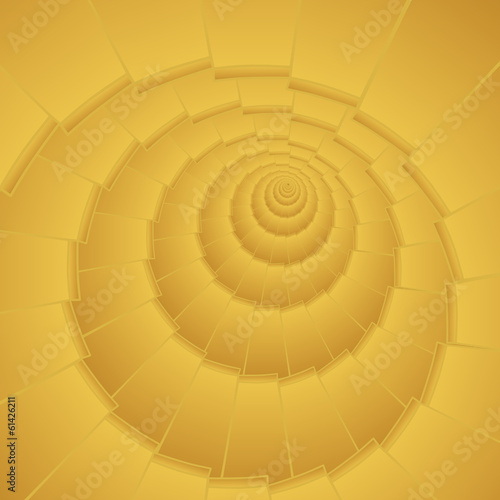 golden infinity spiral stair