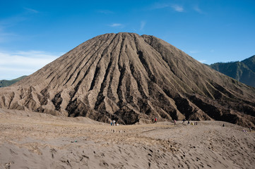 Mount Batok, a neighboring mountain to Mt. Bromo, Indonesia