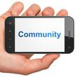 Social media concept: Community on smartphone