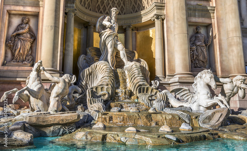 Trevi fountain replica at Caesars Palace,Las Vegas