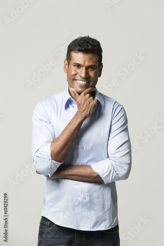 Portrait of a happy Indian man