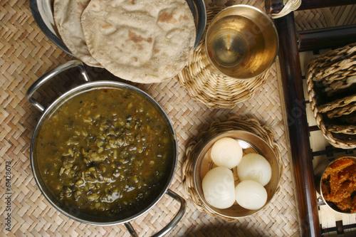 Khalo dal – a common dal prepared from black gram.