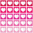 Seamless ombre pattern with hearts - Valentine's Day, love