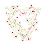 vector illustration of I Love You Valentine Background