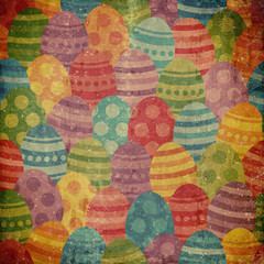 grunge background with easter pattern
