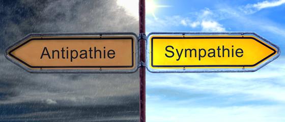 Strassenschild 3 - Sympathie