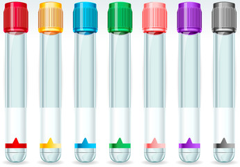 Cap Tube Set in Seven Colours