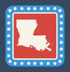 Louisiana state button