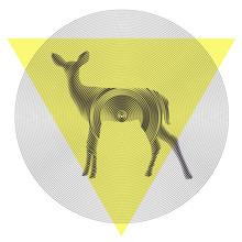 cerf de vecteur dans tiangle et cercle
