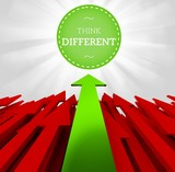 Individuality concept. Think different poster