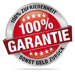 100% Garantie – 100% Zufriedenheit sonst Geld zurück