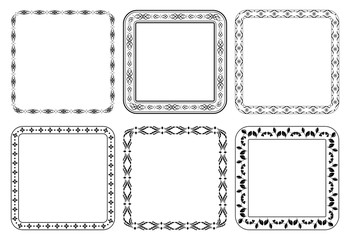 set of vector frames - decorative squares