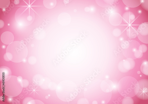 red and white background with bokeh and stars - vector