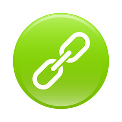 bouton internet chaine lien icon green web