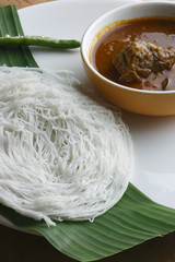 Idiyappam - String hoppers - a culinary specialty in Kerala.