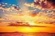 Leinwanddruck Bild - Bright colorfull sunset