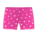 Mens boxer shorts with white hearts