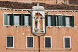 Fragment of the old palace in Venice, Italy.