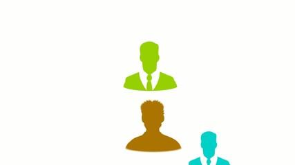 Avatar groupe utilisateur profil réseaux sociaux animation