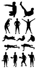 Man fitness silhouette