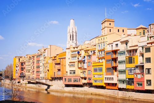 Colorful houses of Girona