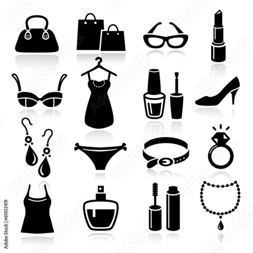 Ladies Shopping Icons