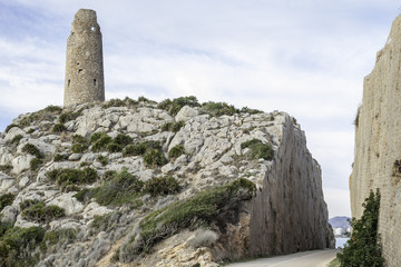old watchtower on the Mediterranean coast