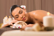 Beautiful Latin Girl Relaxing At Beauty Spa
