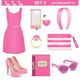 Vector Female Accessories Set 4
