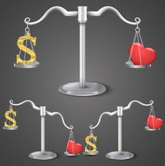 Balance between dollar and love