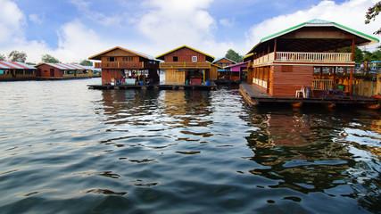 Raft houses on the River Kwai, Kanchanaburi, Thailand