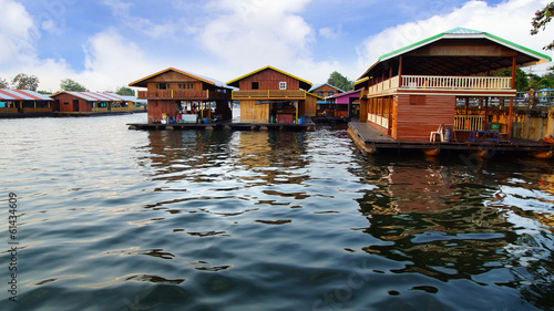 Raft houses on the River Kwai, Kanchanaburi, Thailand