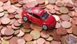 voiture et monnaies d'euro