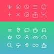 Modern vector Icons set in flat style