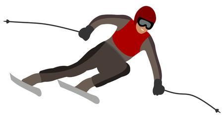 skier taking a turn