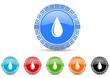 water icon vector set