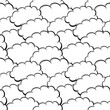 Seamless white cloud pattern.
