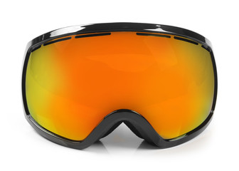 ski snowboard protective goggles isolated on white