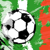 soccer / football illustration, italy