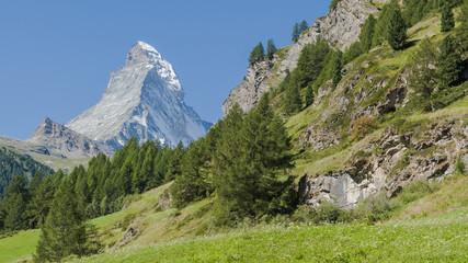 Zermatt, Schweizer Alpen, Wanderung, Höhenweg, Sommer