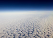 High altitude view of altocumulus clouds.